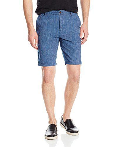PAIGE Men's Thompson Flat Front Short, Baja Blue, 36