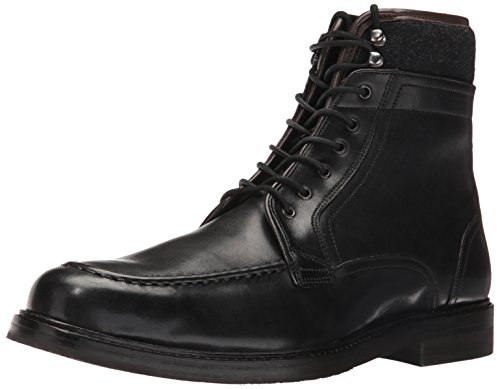 Ted Baker Men's Hickut Combat Boot, Black Leather, 12 M US