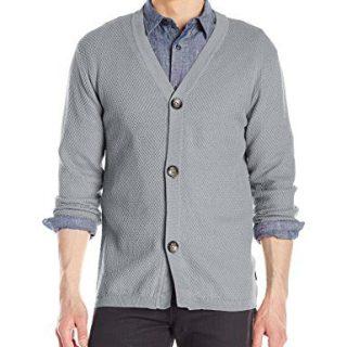 Publish Brand INC. Men's Aydyn Cardigan Sweater, Ash, Large