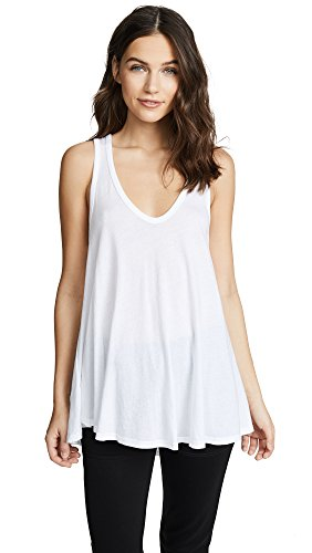 Enza Costa Women's Swing Tank, White, X-Small