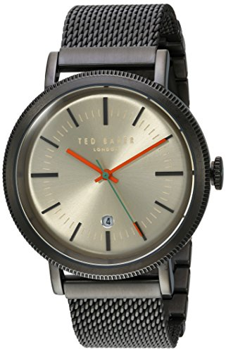 Ted Baker Men's 'CONNOR' Quartz Stainless Steel Dress Watch, Color Grey