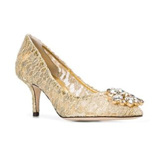 Dolce e Gabbana Women's Gold Polyamide Pumps
