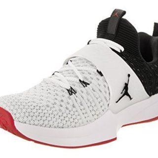 NIKE Jordan Trainer 2 Flyknit Mens Training Shoes White/Black-Black-Gym Red (10.5 D(M) US)