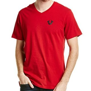 True Religion Mens T-Shirt, L, Red