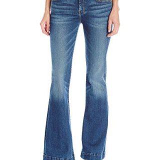 7 For All Mankind Women's Petite Size The Tailorless Dojo Trouser Jean (Short Inseam), Medium Melrose, 27