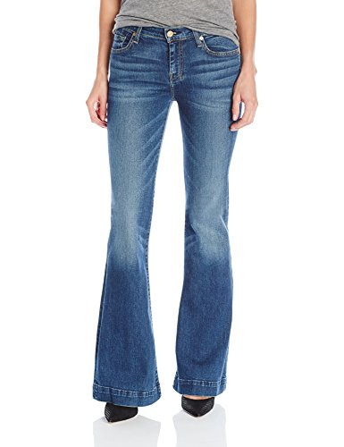 7 For All Mankind Women's Petite Size The Tailorless Dojo Trouser Jean (Short Inseam), Medium Melrose, 27