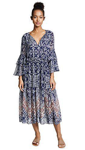 Misa Women's Coco Dress, Blue, Small