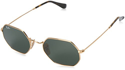 Ray-Ban Metal Unisex Oval Sunglasses, Gold, 53 mm
