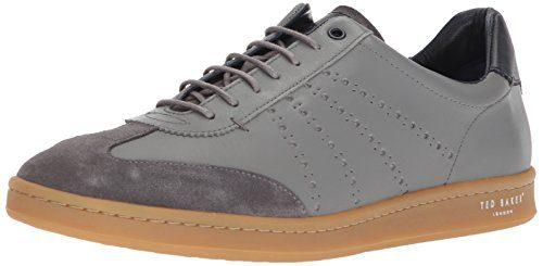 Ted Baker Men's Orlee Sneaker, Light Grey Leather, 12 D(M) US