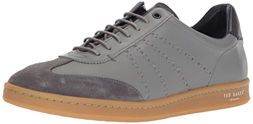 Ted Baker Men's Orlee Sneaker, Light Grey Leather, 12 D(M) US