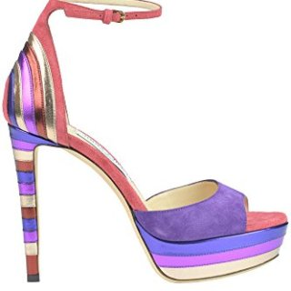 JIMMY CHOO Women's Mcglcate Multicolor Suede Sandals