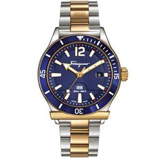 Salvatore Ferragamo Men's Sport Analog Display Swiss Quartz Two Tone Watch