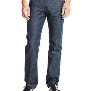 BOSS Orange Men's Modern Fit Jean, Navy, 34x32