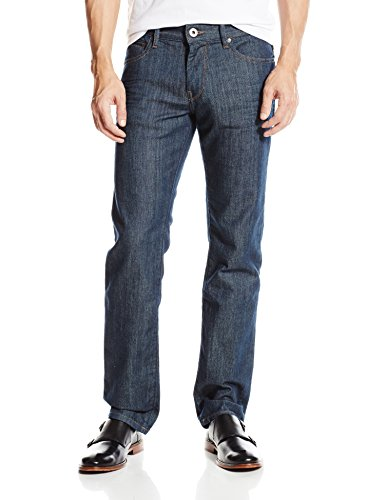 BOSS Orange Men's Modern Fit Jean, Navy, 34x32