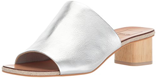 Dolce Vita Women's Kaira Slide Sandal, Silver Leather, 6.5 M US