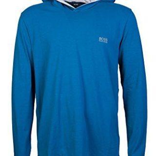 Hugo Boss Mens Overhead Hoody Sweatshirt Mix & Match LS-Shirt H Size L Blue
