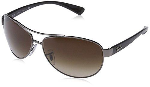 Ray-Ban Polarized Aviator Sunglasses, Gunmetal, 63 mm