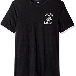 True Religion Men's Short Sleeve No Love Lost Tee, Black, L