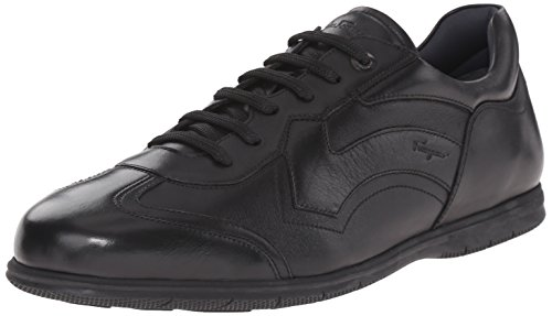 Salvatore Ferragamo Men's 'Leggero' Sneaker Shoe, Black (Nero) (44 (US Men's 10) EE - Wide)