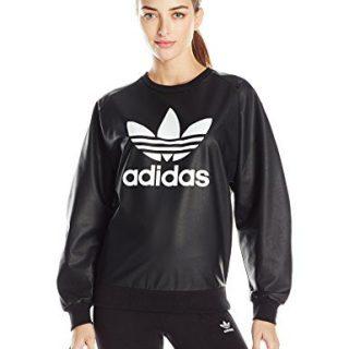 adidas Originals Women's Outerwear Trefoil Sweatshirt, Black, Medium