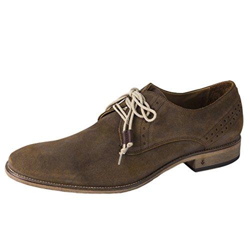 John Varvatos Men's Richards Brogued Derby Sneaker,Dark Ghurka,10.5 M US