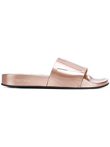JIMMY CHOO Women's Reyfmru03 Pink Rubber Sandals