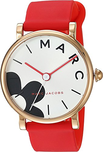 Marc Jacobs Women's 'Classic' Quartz Stainless Steel and Silicone Casual Watch, Color Pink