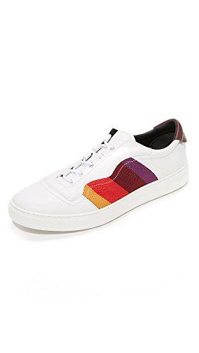 Salvatore Ferragamo Men's Divo Stripe Sneakers, White/Multi, 11 D(M) US
