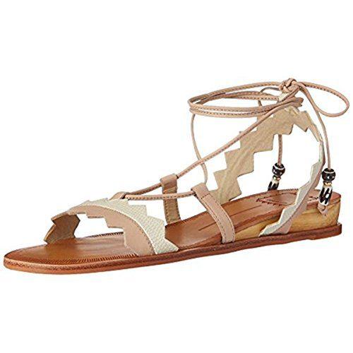 Dolce Vita Women's Pedra Flat Sandal, Natural Multi Leather, 9 M US