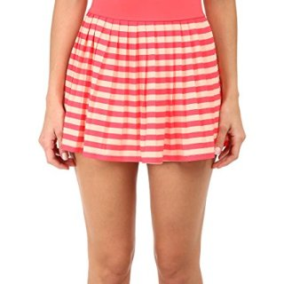 Kate Spade New York Georgica Beach Stripes Swimsuit Cover Up Mini Skirt Geranium (M)