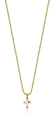 Alex Woo Mini Additions 14k Yellow Gold Cross Pendant Necklace, 16""