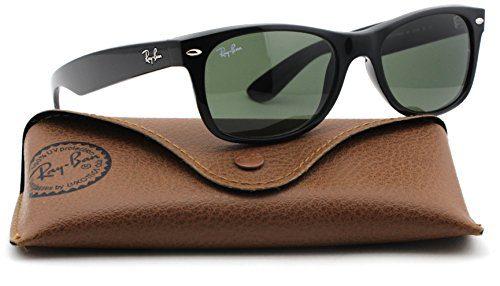64558b25f Ray-Ban New Wayfarer Classic Unisex Sunglasses (Black Frame / Green G-15