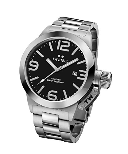 TW Steel Men's CB1 Analog Display Quartz Silver Watch