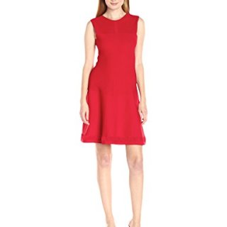 A|X Armani Exchange Women's Knit Sleeveless Dress, Absolute Red, Large