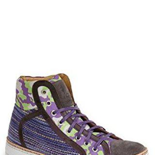 Robert Graham Men's Hizza HI Top Sneakers Blue 50587 (10.5)