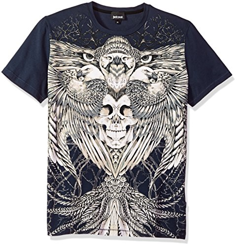 Just Cavalli Men's Skull Tee, Nine Iron, XL