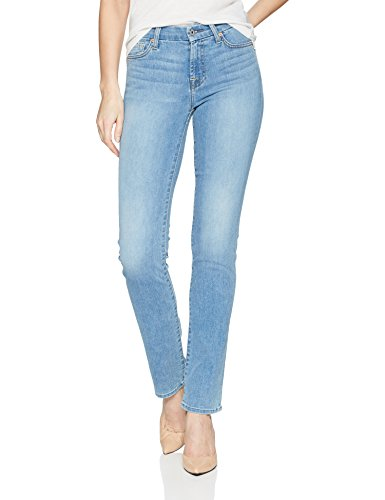 7 For All Mankind Women's Kimmie Straight Leg Jean, Bright Palms, 28