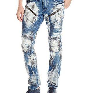 PRPS Goods & Co. Men's Demon Slim Fit Jean, Painted Denim, 32