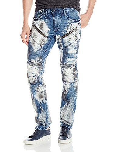 PRPS Goods & Co. Men's Demon Slim Fit Jean, Painted Denim, 32