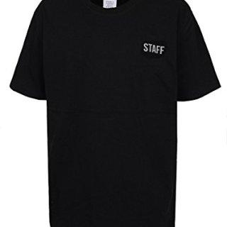 CraveLook Men's Staff Reflector Logo Short Sleeve T-Shirt Streetwear (Black)