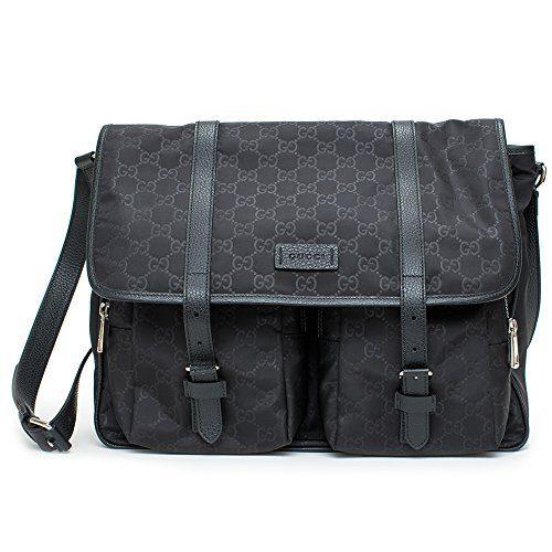 Gucci Gg Canvas Beige Ebony Canvas Leather Bag Tote