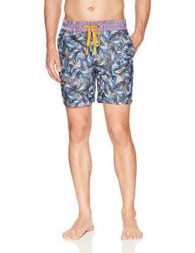 Robert Graham Men's LA Pinta Woven Swim Trunk, Multi, 32