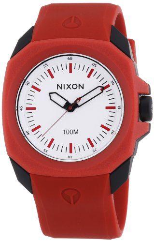NIXON Women's 'Ruckus' Quartz Plastic and Polyurethane Casual Watch, Color:Red