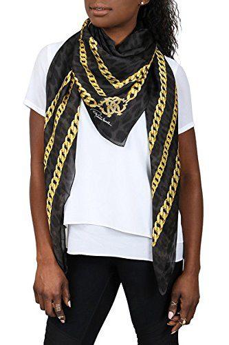 Roberto Cavalli Black/Gold Chain Shawl