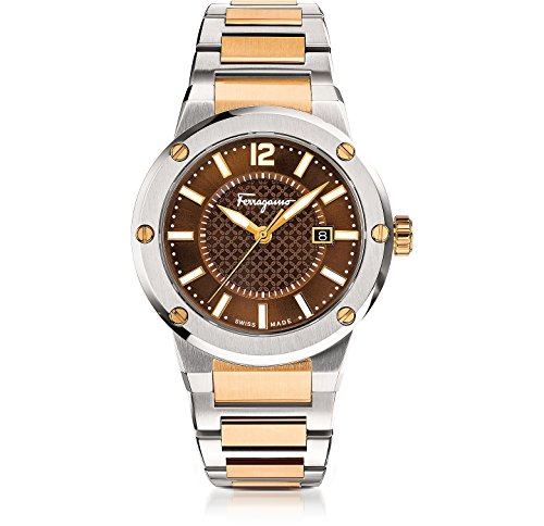 Salvatore Ferragamo Men's Analog Display Quartz Two Tone Watch