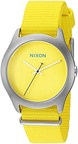 Nixon Women's Mod Analog Display Japanese Quartz Yellow Watch