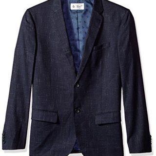 Original Penguin Men's Crosshatch NEP Blazer, Dark Sapphire, Medium
