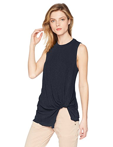Stateside Women's New Twist Tank, Navy, Medium
