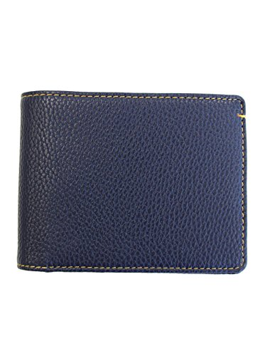 Robert Graham Capua Leather Trim Bi-Fold Wallet Navy