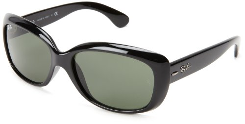 Ray-Ban JACKIE OHH - BLACK Frame CRYSTAL GREEN Lenses 58mm Non-Polarized